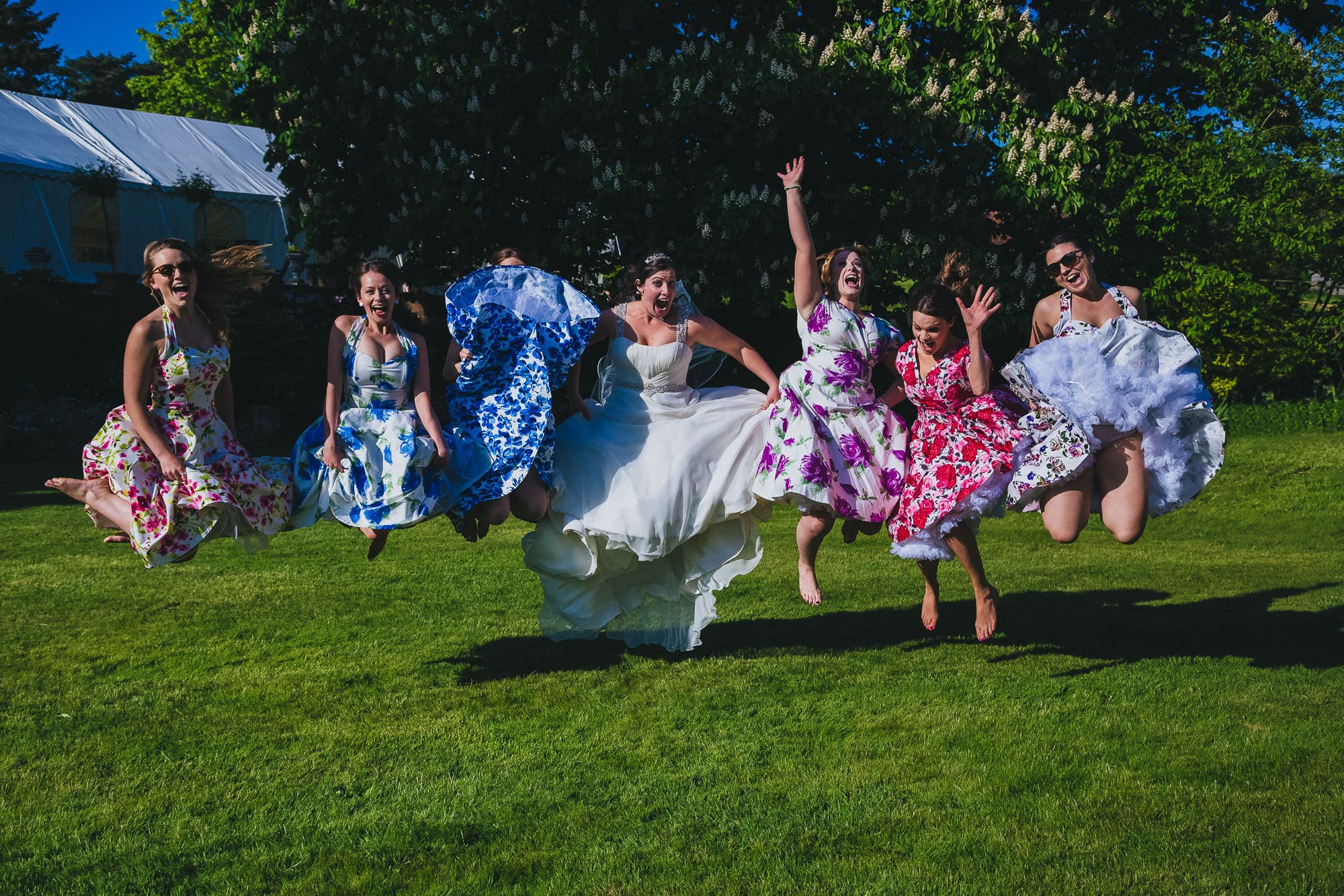 Bridesmaids fun photograph, Priory Hall, Hadleigh, Suffolk