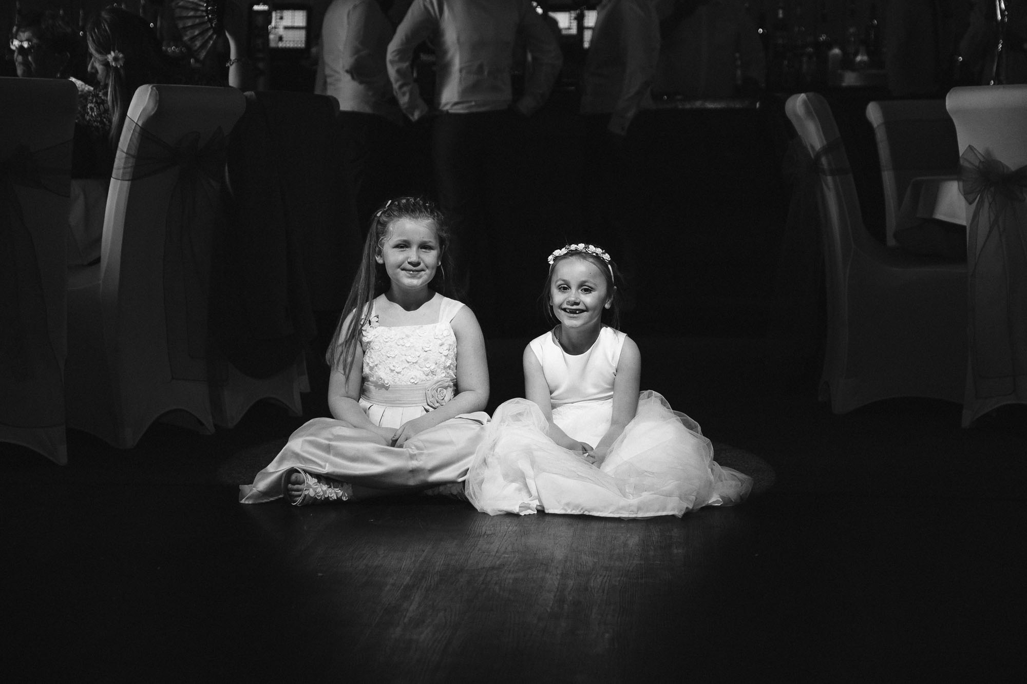Cute flower girl wedding photograph