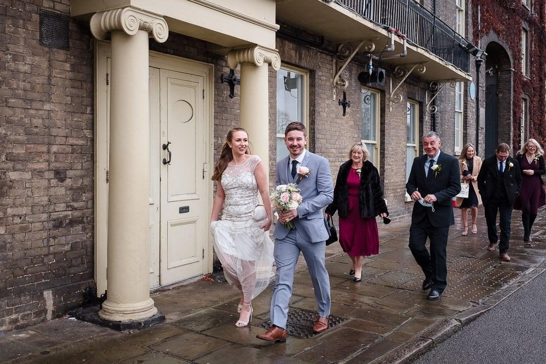 Covid wedding, Bury St Edmunds, Suffolk